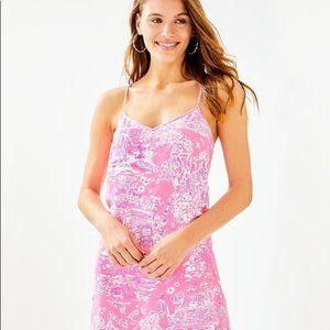 NWT Lilly Pulitzer Dusk Silk Dress XL Pink Sorbet